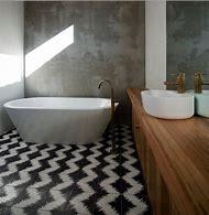 White Bathroom Floor Tile Design Ideas