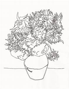 Van Gogh Sunflowers Drawing At Free For