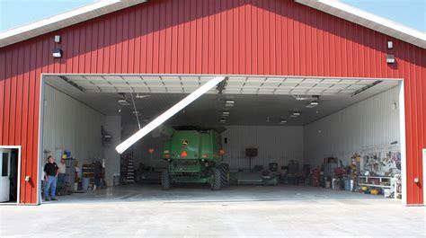 Swing up Center Post Commercial Garage Door » Midland