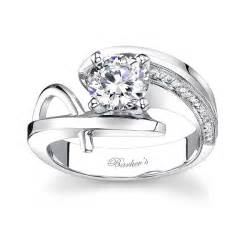 Barkev's White Gold Engagement Ring - 7619L