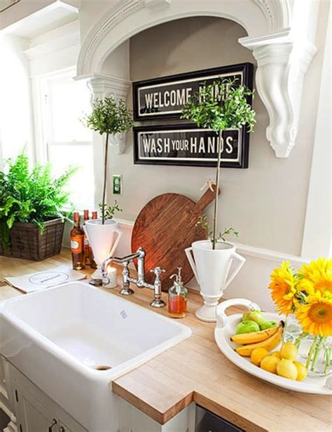 kitchen sink decor idea for above the sink with no window for the home
