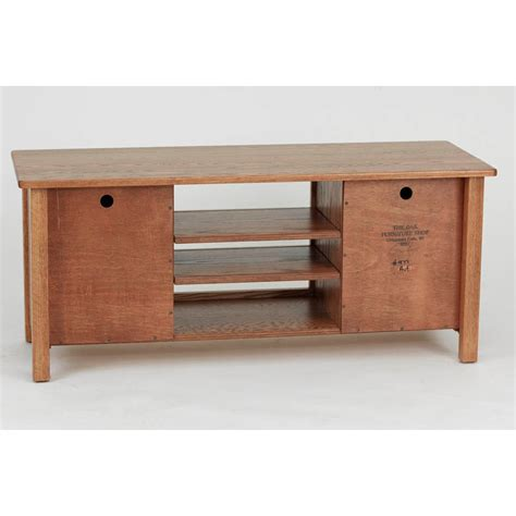 Country Style Living Room Chairs by Mission Solid Wood Oak Tv Stand W Cabinet 51 Quot The Oak