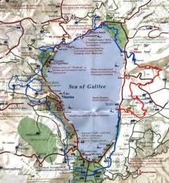 Israel Sea of Galilee Map Jesus