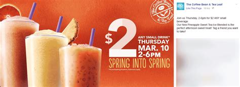 02301 Coffee Bean And Tea Leaf Promo Code by Coffee Bean And Tea Leaf Discount Coupons Coke Products