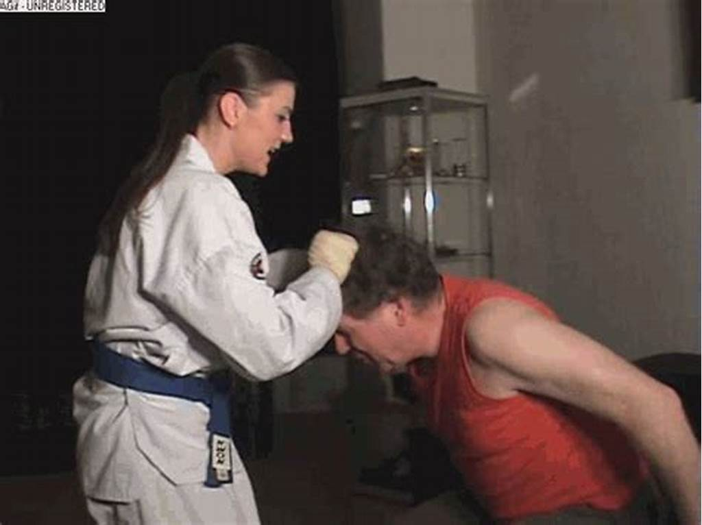 #Punch #And #Kickdown #From #A #Young #Karateka #Girl