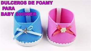 ZAPATITOS DULCEROS EN FOAMY PARA BABY SHOWER DE NIÑA Y NIÑO / Baby Shower souvenirs DIY YouTube