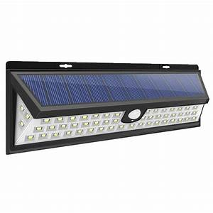 Lampu Solar Panel Sensor Gerak Outdoor 54 Led 2835 Waterproof - Gy024 - Black