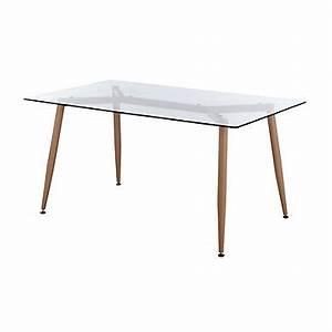 Table En Verre Rectangulaire : table pas cher ~ Teatrodelosmanantiales.com Idées de Décoration