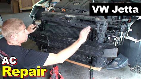 automobile air conditioning repair 1995 volkswagen jetta iii user handbook 2012 vw jetta ac condenser and compressor youtube
