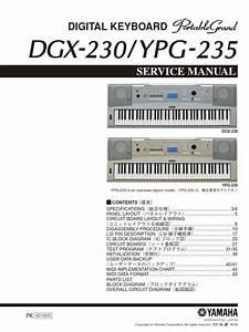 Yamaha Dgx 230 Ypg 235 Keyboard Service Manual And Repair
