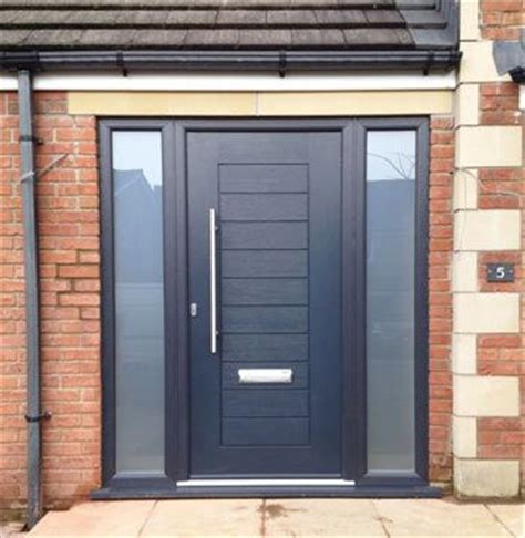modern front door  entrance door  black opaque