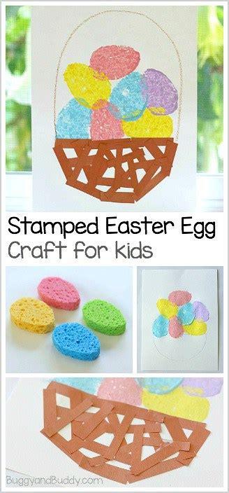 easter crafts for sponge painted easter egg basket 486   easter egg pin