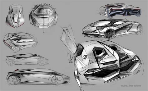 Car Design Concepts : Lamborghini-perdigon-concept-design-sketches-01