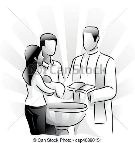 battesimo clipart battesimo sacramento santo bambino illustrazione