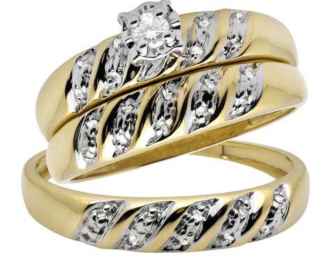 10k yellow gold trio miracle swirl diamond engagement wedding ring 10ct ebay