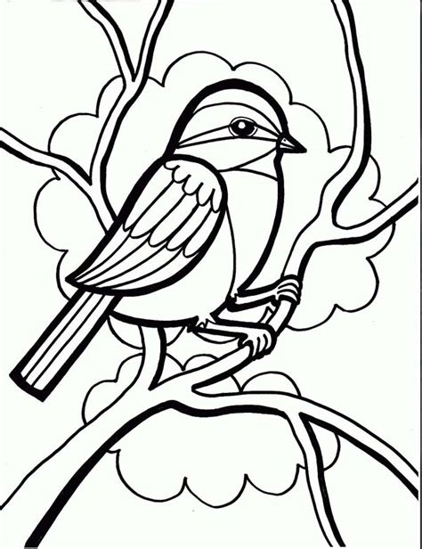 chickadee drawing coloring page  print