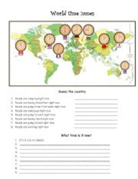 english worksheets time zones worksheets