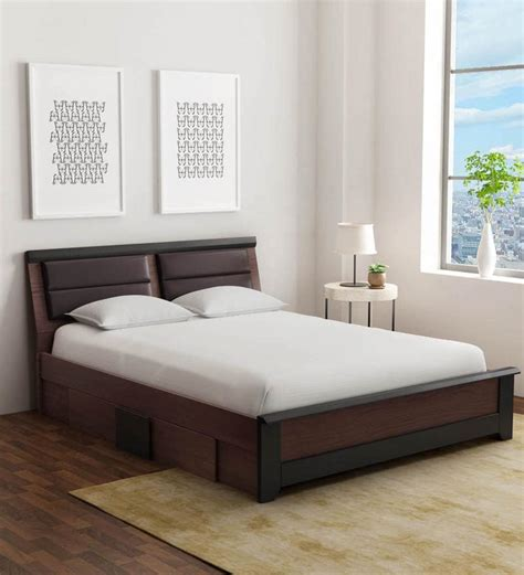 Bed Size by Buy Ryouta Size Bed With Drawer Storage In Wenge
