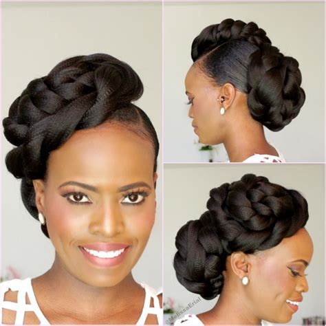 Easy Updo Hairstyles For Black Hair by Hair Bridal Style Updo Black Hair Information