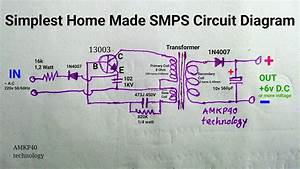 Simplest Home Made Smps Circuit Diagram