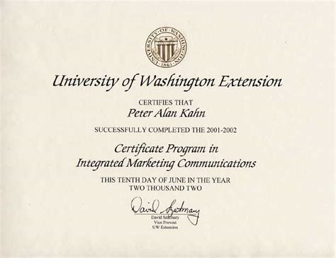 marketing certificate programs uw