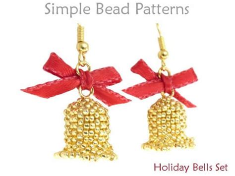 Beaded Bell Pattern For Christmas Earrings And A Christmas