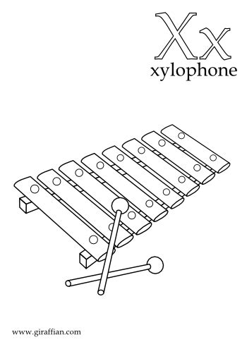 Coloring Xylophone by Xylophone Coloring Pages