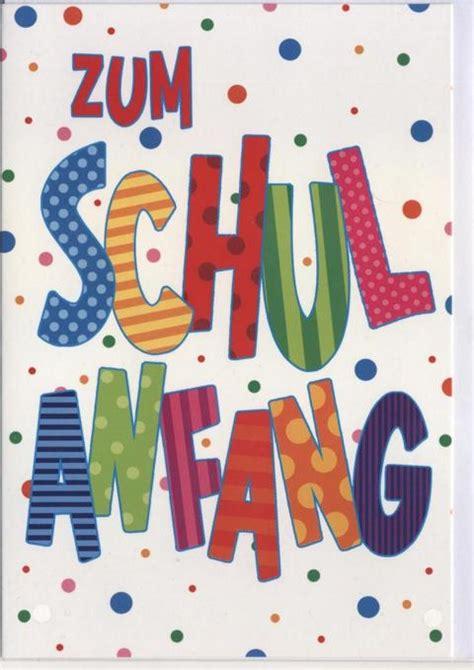 Glückwunschkarte Zur Einschulung Zum Schulanfang