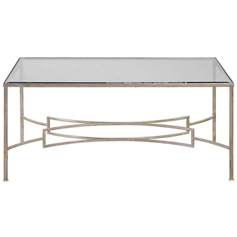 silver glass coffee table endora hollywood regency silver leaf glass coffee table