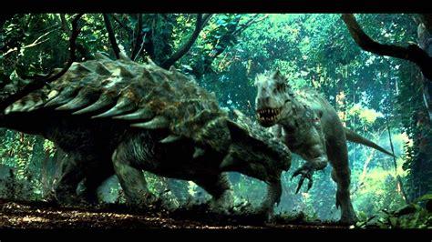 jurassic world indominus rex  ankylosaurus scene youtube