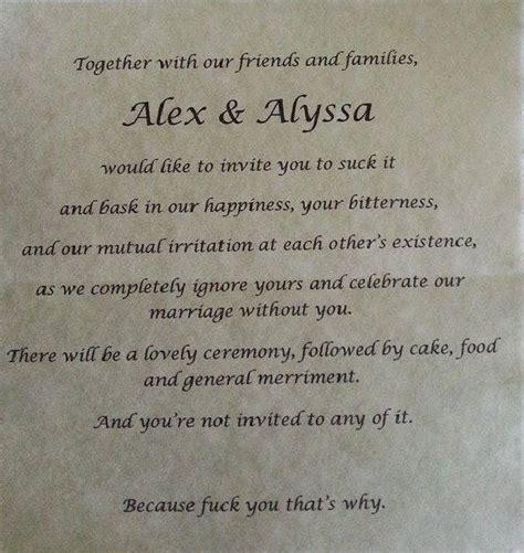 parents demanded  wedding invitation abusive parents