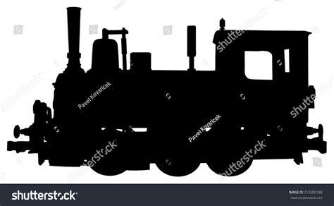 steam locomotive silhouette stock vector 219200188