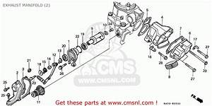 Honda Cr125r 1988  J  Canada Exhaust Manifold  2