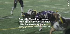 Football: Matadors come up short against Mountain View HS ...