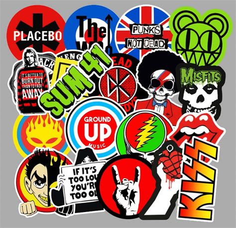 rock band stickers wholesale sticker supplier