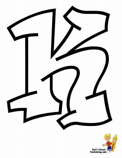 Coloring Graffiti Abc Cool Alphabet Grafiti Letter