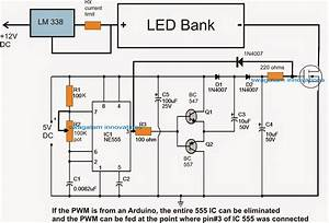 pwm led light intensity controller circuit With led pwm circuit