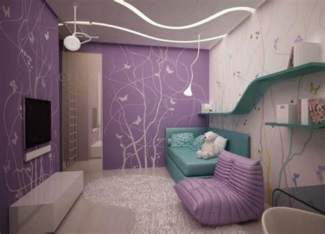 Tapeten Für Jugendzimmer Mädchen by Wandgestaltung Jugendzimmer M 228 Dchen Lila Wandfarbe