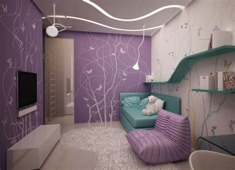 Kinderzimmer Mädchen Wandfarbe by Wandgestaltung Jugendzimmer M 228 Dchen Lila Wandfarbe