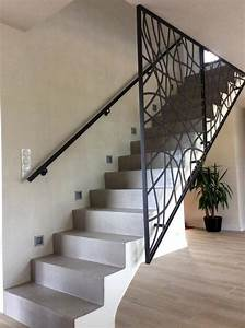 1000 idees sur le theme garde corps terrasse sur pinterest With garde corps escalier interieur design