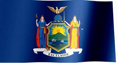 York Flag State Waving Flags Animated States