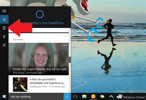 cortana track open notebook using packages settings windows then brw windowscentral