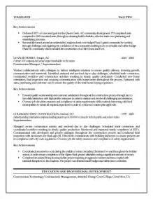 manager resume summary construction management resume exles assistant project manager additional and technical