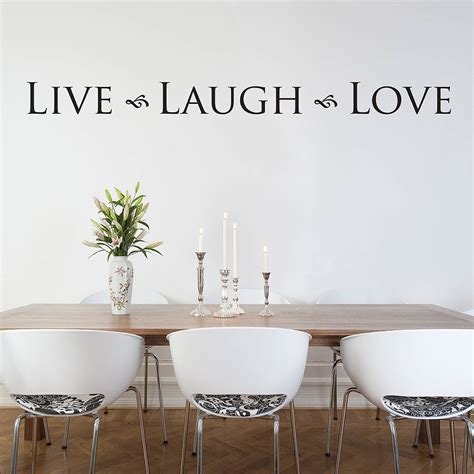 39 live laugh 39 wall sticker by nutmeg notonthehighstreet com