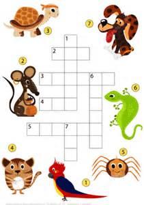 study pets crossword puzzle  printable puzzle games