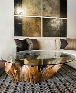Baumstamm An Decke Befestigen : 50 couchtische aus baumstamm gestaltet baumst mme ~ Lizthompson.info Haus und Dekorationen