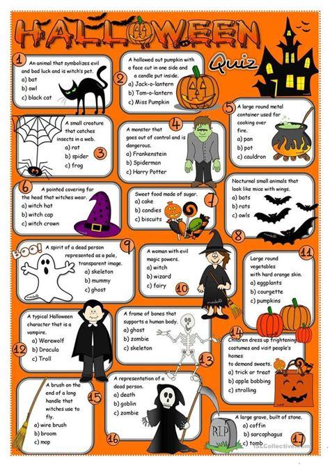 halloween quiz worksheet  esl printable worksheets