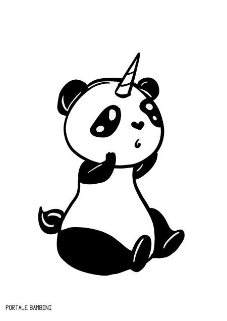 pandacorno pandacorni da colorare  racconti portale