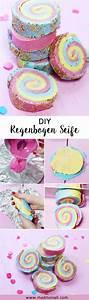 Seife Selber Machen Mit Kindern : diy seife mit regenbogen muster selber machen einfache ~ Watch28wear.com Haus und Dekorationen