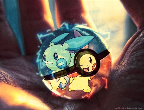 Plusle And Minun In A Pokeball By Jonathanjo On Deviantart
